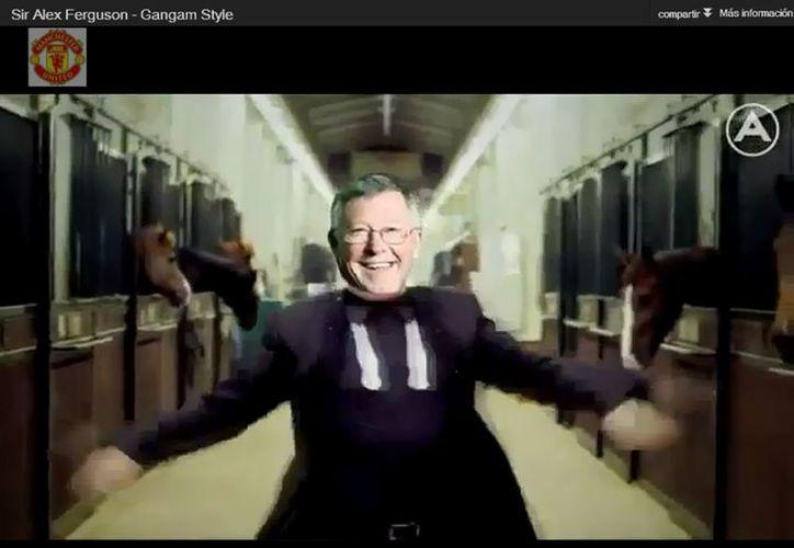 Ferguson se suma a la lista de personalidades parodiadas con el pegajoso baile. (Captura de pantalla)