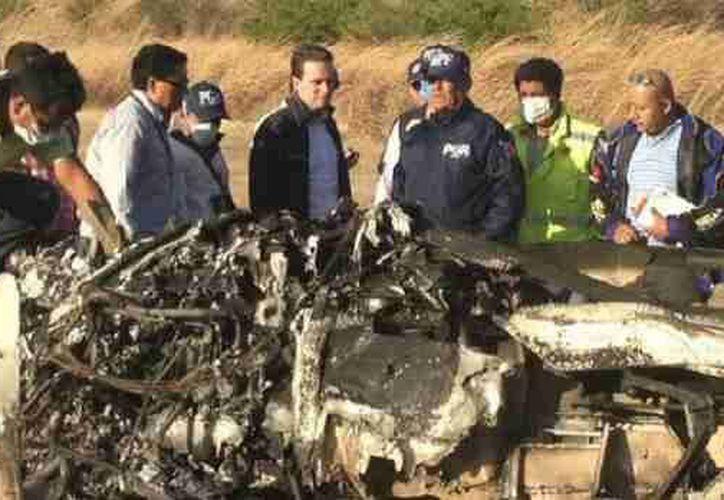 La aeronave quedó completamente incinerada. (esmas.com)