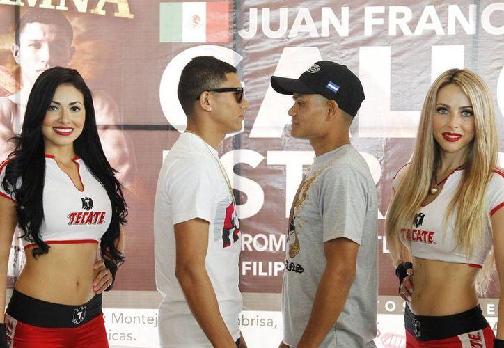 Los boxeadores Juan Francisco 'Gallo' Estrada y Rommel Asenjo, 'Asesino', mostraron respeto mutuamente, previo a su pelea de este sábado.