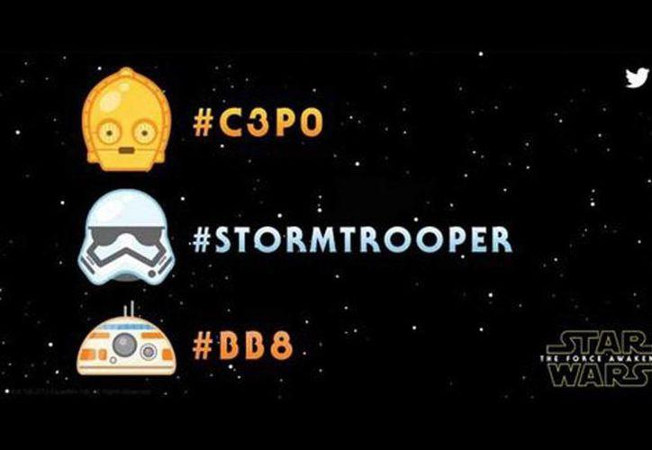 Escribe #C3PO, #Stormtrooper o #BB8 para que aparezcan los emojis en tu tuit. (blog.twitter.com)
