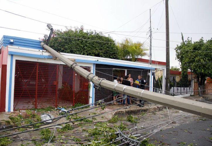 La turbonada del pasado viernes afectó principalmente a la zona de Pensiones, en Mérida. (Juan Albornoz/SIPSE)