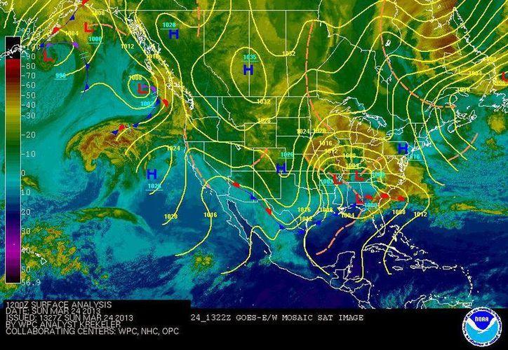 Soplarán vientos de componente sur de 15 a 25 km/h con rachas de 45 km/h y oleaje de 1 m de altura. (Redacción/SIPSE)