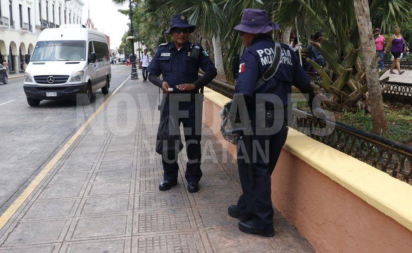 Refuerzan la seguridad en la ciudad. (Novedades Yucatán)