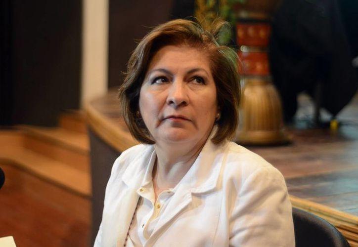 La activista Isabel Miranda habló sobre los derechos de las víctimas en una universidad de Mérida. (Milenio Novedades)