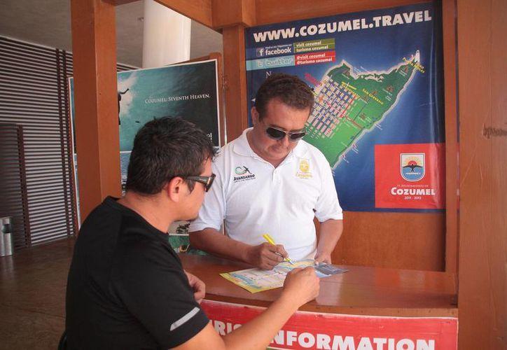 El módulo era considerado los ojos de Cozumel en Playa del Carmen, ya que se percataban de la mala imagen que comentaban los tour operadores para evitar que los turistas viajarán al municipio. (Julian Miranda/SIPSE)