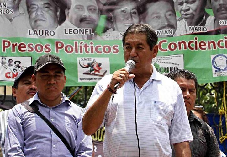 Rubén Núñez, líder de la CNTE, estará a la cabeza de la organización hasta finales de septiembre. (Archivo/NTX)