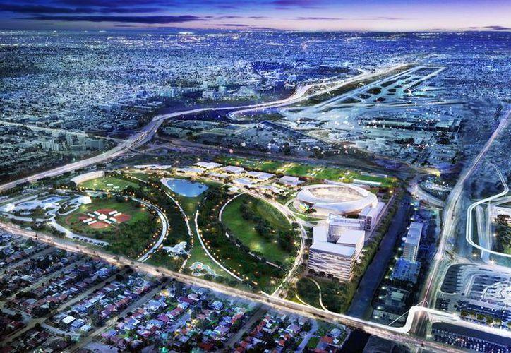 """El complejo que además incluirá un parque público y un """"centro de entretenimiento de golf"""" es parte de un plan de reurbanización.  (Twitter)"""