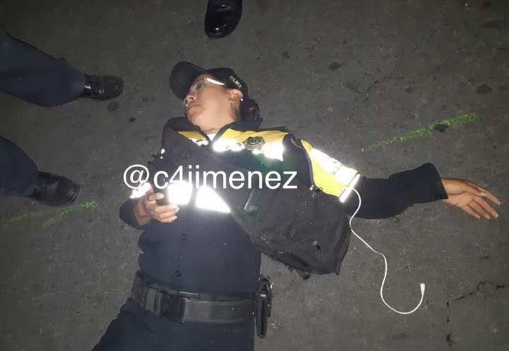 A través de redes sociales fue difundido un video grabado por Ana Gabriela la policía agredida por un conductor de BMW. (Captura de pantalla)