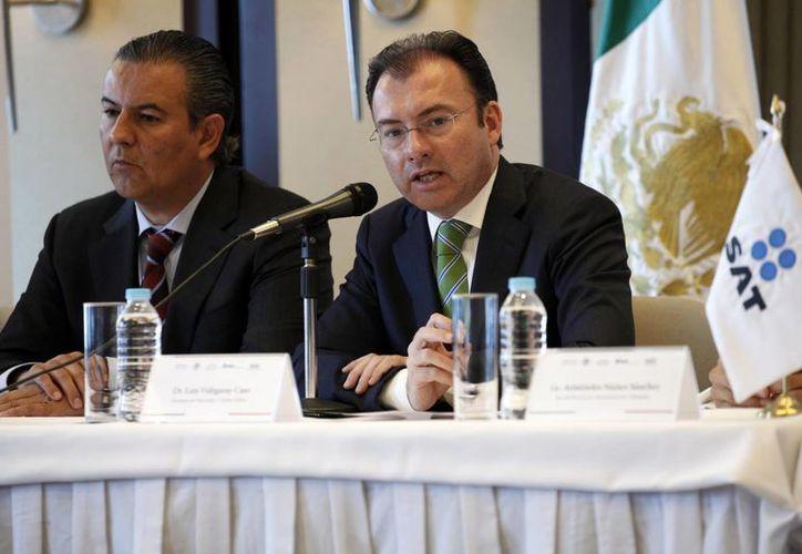 Videgaray asegura que la reforma financiera incluye medidas para inhibir las prácticas ilegales en la devolución de impuestos. (Notimex)