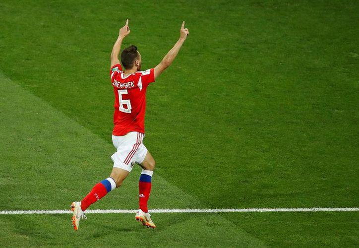 Denis Cheryshev anotó un bello gol a Croacia (Foto: Twitter @Listín Diario)