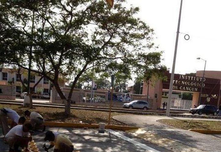 Tras la manifestación de los estudiantes del Tecnológico de Cancún, que se llevó a cabo ayer, fueron instaladas boyas poco antes del tope. (Foto: @DirecTransito)