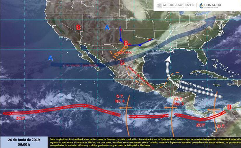 Los fenómenos que afectan gran parte del país, no tendrá impacto en el estado. (Servicio Meteorológico Nacional)