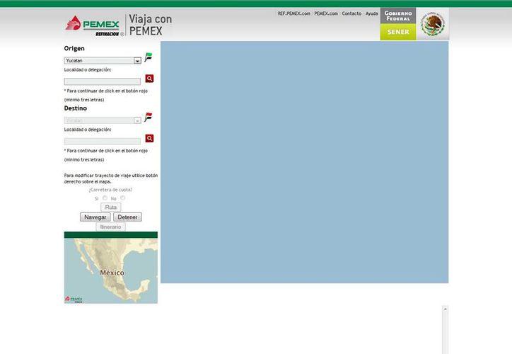 El sitio web de la paraestatal es viajaconpemex.pemex. (pemex.com)