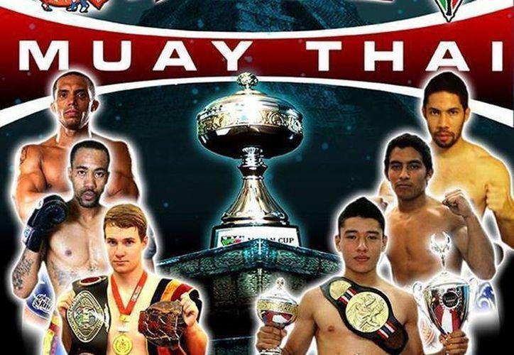 Peleadores nacionales de Muay Thai defenderán su actual título contra peleadores de EU y Canadá. (Facebook)