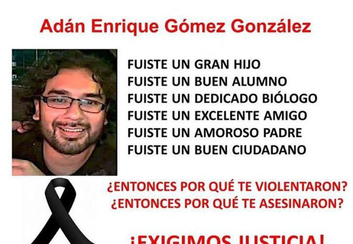 Familiares y amigos de Enrique Gómez convocaron a una manfestación para exigir justicia. (Foto: Excélsior)