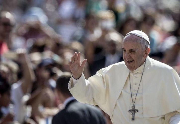Imagen del Papa Francisco, quien condenó los crímenes contra los cristianos en Medio Oriente. (Archivo/EFE)
