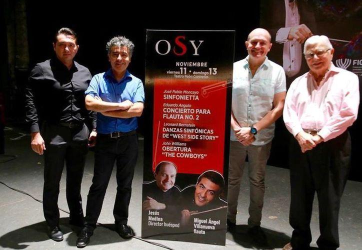 El concierto de la Orquesta Sinfónica de Yucatán contará con dos músicos invitados, los cuales se encargarán de fortalecer la presentación.(Milenio Novedades)