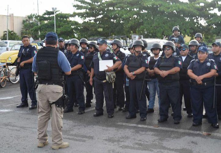 Catorce cadetes fueron despedidos ayer; 20 policías más podrían correr la misma suerte en Cozumel. (Gustavo Villegas/SIPSE)