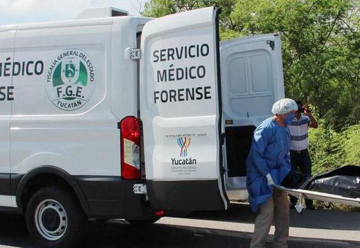 Personal del Ministerio Público y Servicios Periciales de la Fiscalía General del Estado, con base en Umán, llegó para efectuar el levantamiento. (Milenio Novedades)