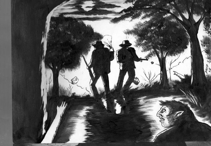Cazadores y vecinos de Akil se han internado en el monte en busca del tesoro, sin éxito hasta el momento. (Jorge Moreno/SIPSE)