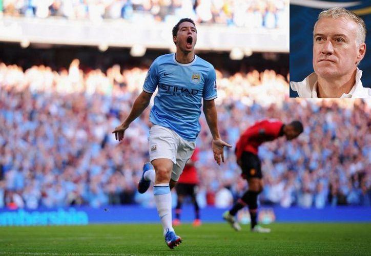 Samir Nasri tuvo un buen cierre de temporada con el Manchester City, pero eso no convenció a Deschamps para seleccionarlo para el Mundial. (Fotos: mirror.co.uk/Efe)