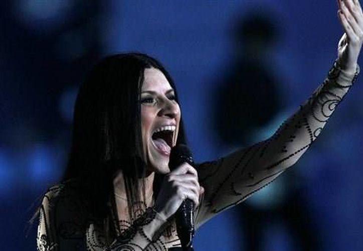 Laura Pausini durante su actuación en el Festival de Viña del Mar. (Agencias)