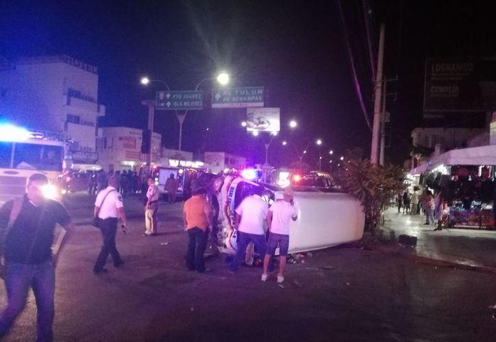 La patrulla se dirigía a cubrir un reporte ciudadano. (Foto: Redacción/SIPSE).