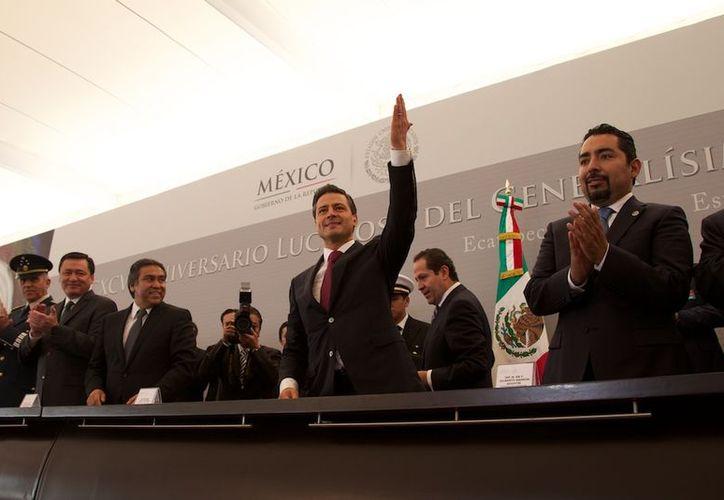 El presidente Enrique Peña Nieto encabezó las actividades en memoria de María Morelos y Pavón. (www.presidencia.gob.mx)