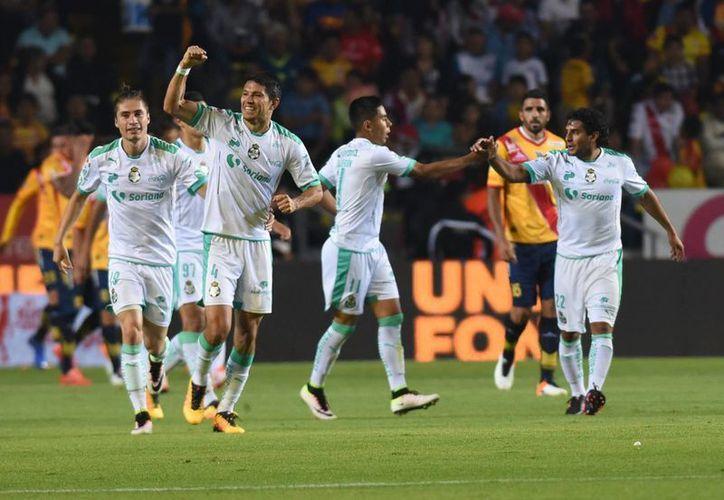 León abrió el marcador en el partido de ida de cuartos de final ante Morelia. Al final el juego terminó 1-1. (Foto: Notimex)