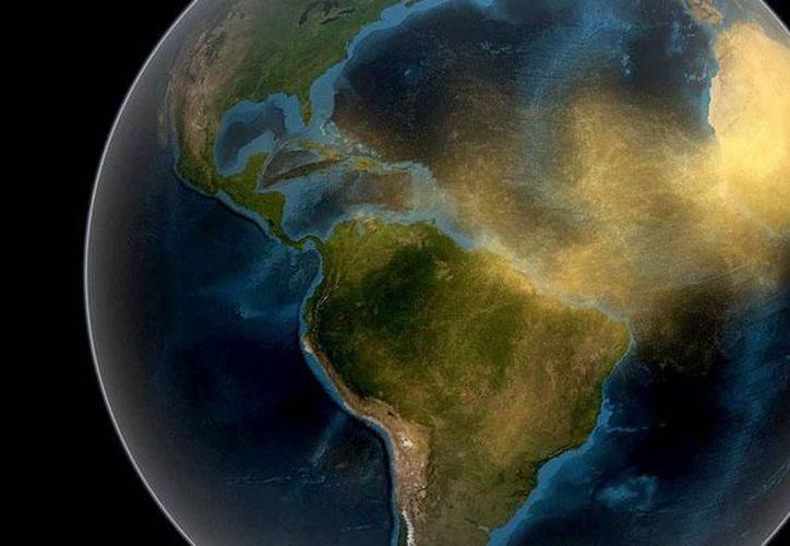 Representación gráfica de cómo viaja el polvo del Sahara por el mundo, el cual causa enfermedades.  (Foto de contexto: archivo/Milenio Novedades)