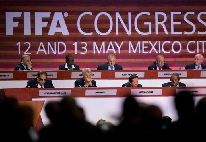 Funcionarios de la FIFA durante el 66º Congreso, celebrada en la Ciudad de México. (Agencias)