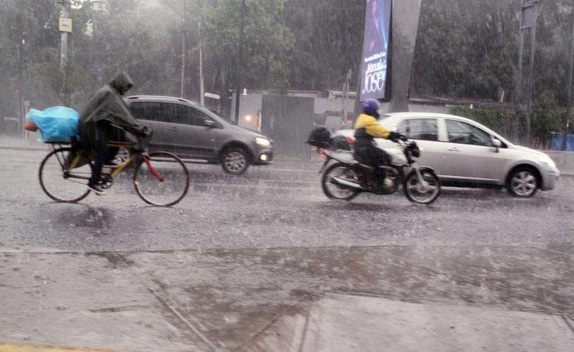 Debido a que las lluvias seguirán en las siguientes horas, la Conagua exhortó a la población a mantenerse informada mediante los avisos del Servicio Meteorológico Nacional. (Archivo/Notimex)