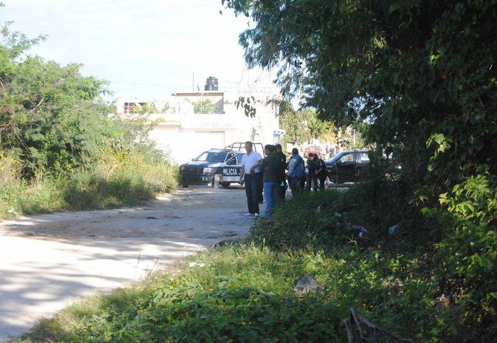 El cuerpo fue hallado en un área verde, frente a la colonia irregular Cuna Maya. (Eric Galindo/SIPSE)