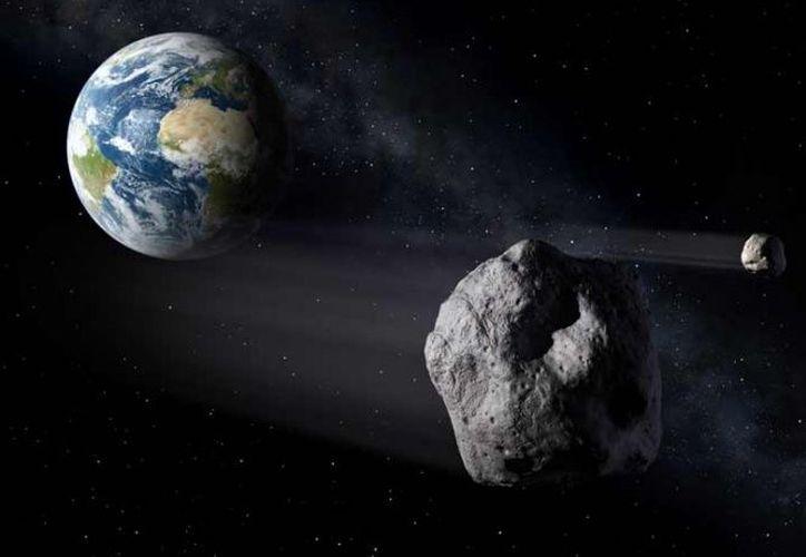 2002 AJ129 es un asteroide de tamaño intermedio. (NASA)