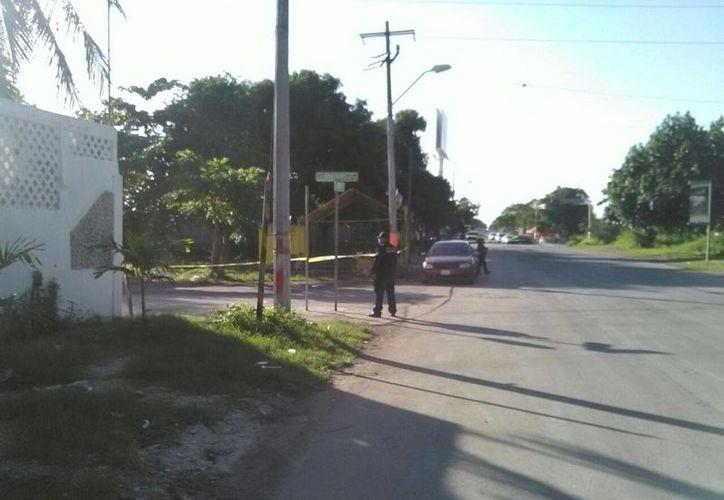 La zona fue acordonada por la Policía Municipal. (Redacción/ SIPSE)