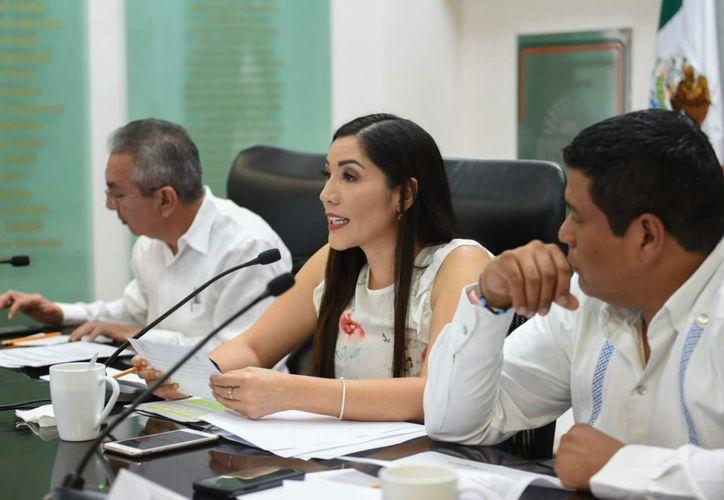 La diputada local fue señalada de utilizar espacios del municipio y a un menor de edad para hacer propaganda. (Benjamín Pat/SIPSE)
