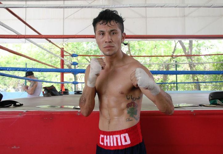 """Marco Antonio """"Chino"""" Chablé tendrá la oportunidad de disputar la contienda estelar del boxeo cancunense. (Raúl Caballero/SIPSE)"""