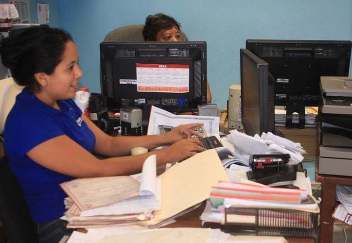 Decenas de secretarias laboran en el Ayuntamiento isleño. (Lanrry Parra/SIPSE)