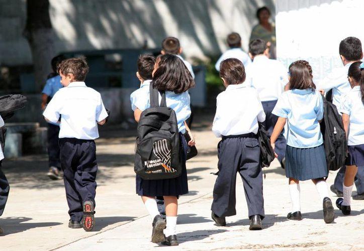 Los estudiantes saldrán de clases hoy y volverán el miércoles 10, día del Miércoles de Ceniza. (Archivo/SIPSE)