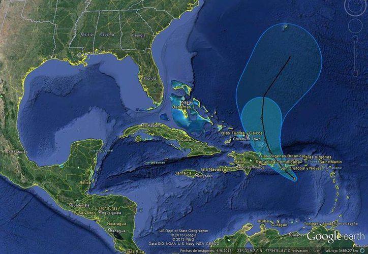 Hace unas horas se formó la depresión tropical 7 en el Caribe, que podría dar paso a la tormenta tropical 'Gabrielle'. (Conagua)