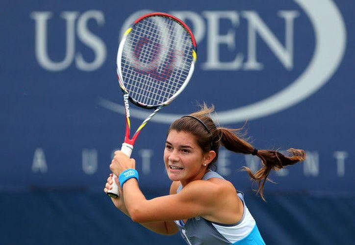 Marcela Zacarías participa en el certamen del circuito femenil de la Federación Internacional de Tenis. (internetvdeportes.com)