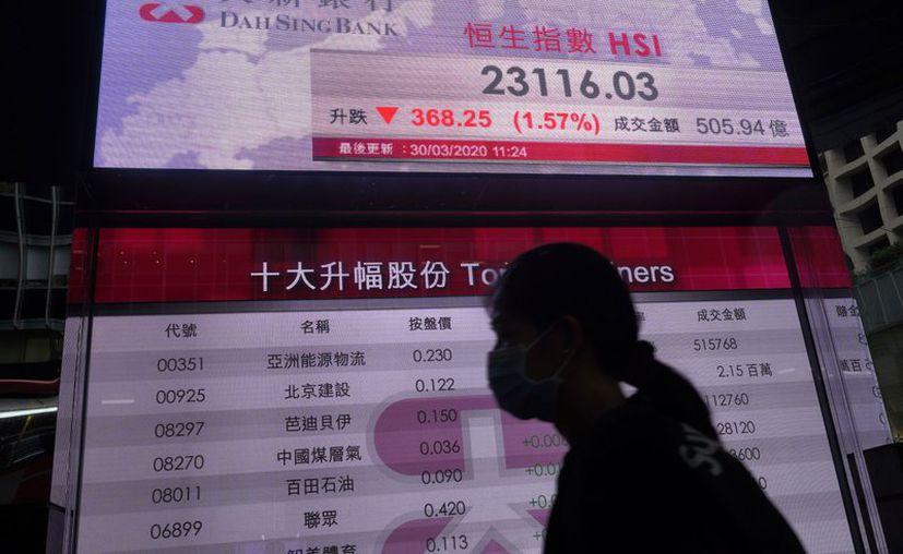 El bolsa de Hong Kong tuvo un importante alza junto con la de Nueva York y otras ciudades del mundo. (Foto: AP)