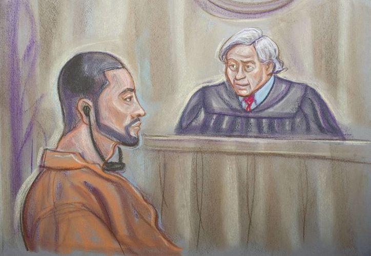Aspecto de la audiencia en la cual el 'Chino Ántrax' se declaró culpable por narcotráfico. (EFE)
