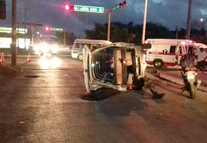 El accidente se registró a las 6:05 horas de ayer. (Redacción/ SIPSE)