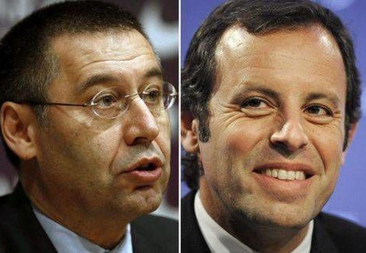 Josep Bartomeu(derecha)  y Sandro  Rosell  irán  a juicio por fraude fiscal en el fichaje de Neymar Jr (EFE)