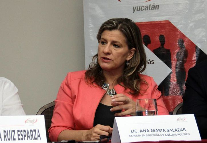 Ana María Salazar Slack, exconsejera en seguridad del Pentágono y la Casa Blanca, dijo que los empresarios y el gobierno yucateco no deben bajar los brazos para que la inseguridad invada Mérida, como ocurrió en Nuevo León. (SIPSE)