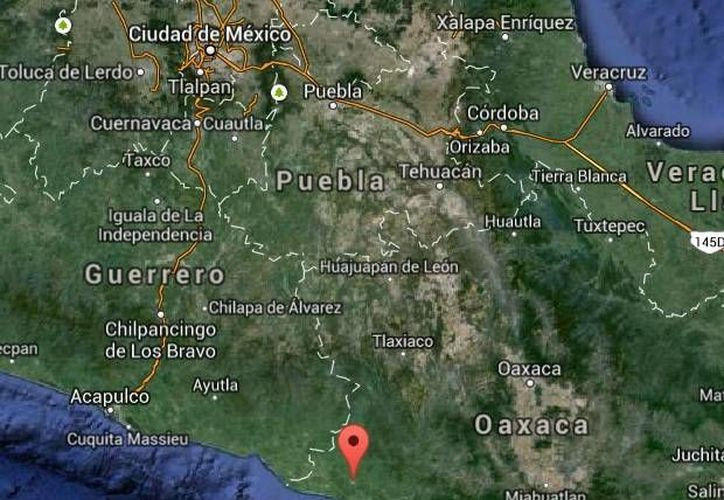El terremoto con epicentro a 42 kilómetros al suroeste de Pinotepa Nacional, Oaxaca, se suscitó en la madrugada. (Google Maps)