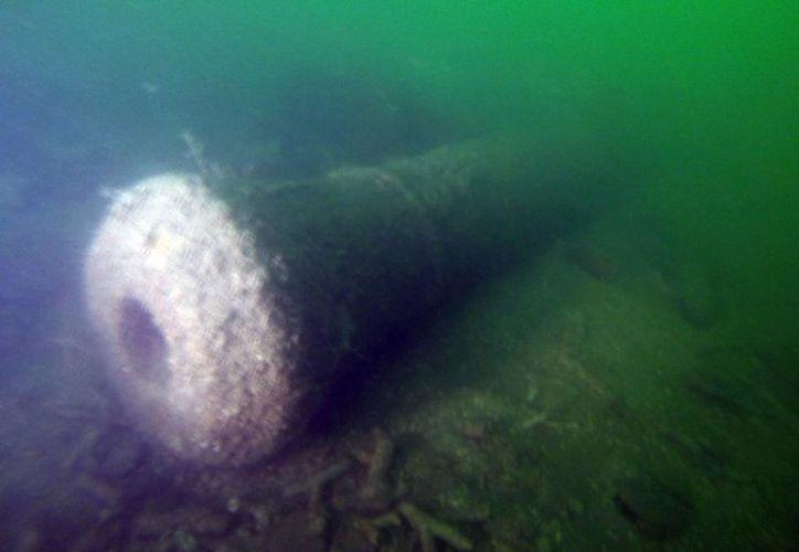 Fotografía sin fechar cedida por la Fundación Terra Firme - Unaltra, donde se muestran aspectos del hallazgo en Cartagena de Indias de un naufragio del que sería un buque mercante hundido por Blas de Lezo en el 1741. (EFE)