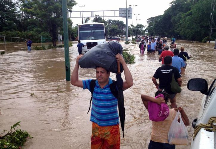 """""""Ingrid"""" y """"Manuel"""" han causado serias afectaciones en diversos estados del país, entre ellos Guerrero. (Foto/Redacción)"""