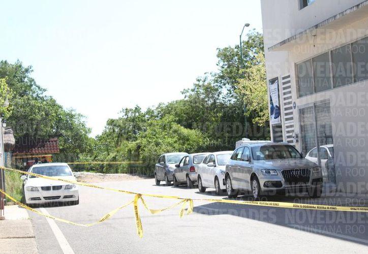 Policías se encargaron de acordonar el área, en la Colonia Ejido Sur. Adrián Barreto